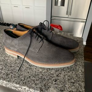 Grey lace up magnanni